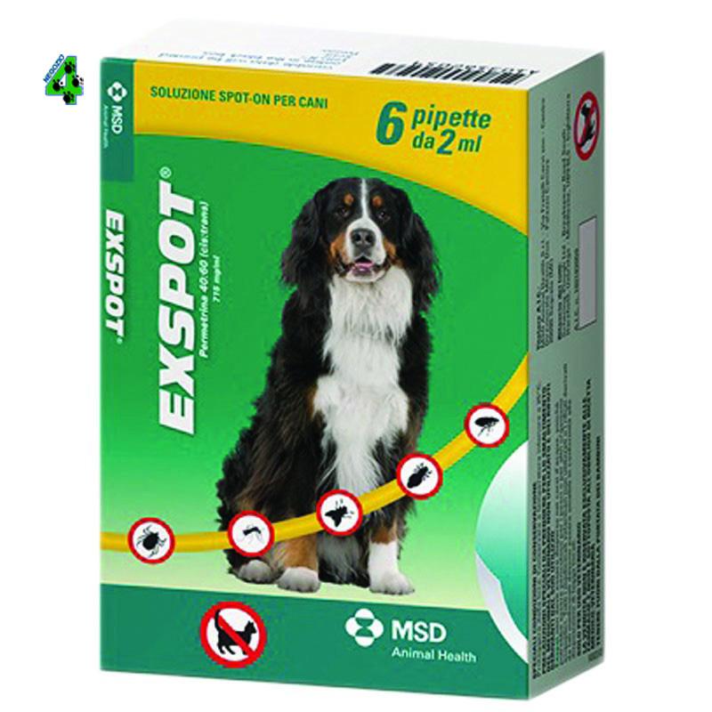 Intervet Exspot 6 Pipette 1 ml Antiparassitario Per Cani