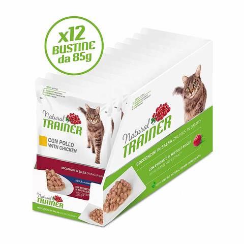 Natural Trainer Hairball Cat Manzo Bocconcini 85 gr Bustina