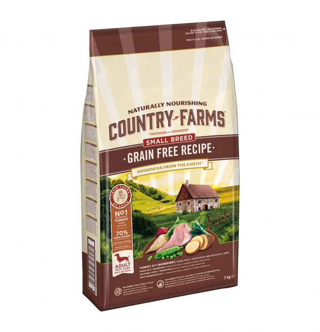 Purina Country Farms Dog Grain Free Small Adult Tacchino 7 kg