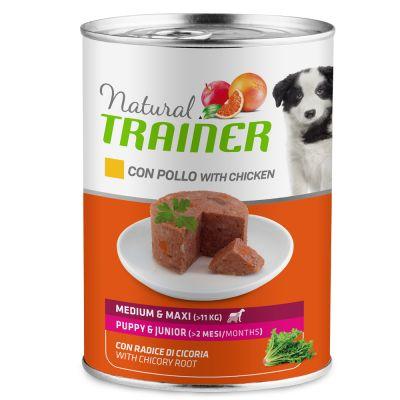 Natural Trainer Medium Maxi Adult Pollo 400 gr Umido Cane